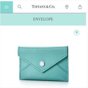 Tiffany's leather envelope/business card holder